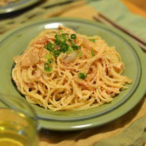 たらこバジル(シソ)スパゲッティ