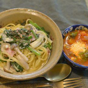 酸味が強いのが良いスープとクリームスパ
