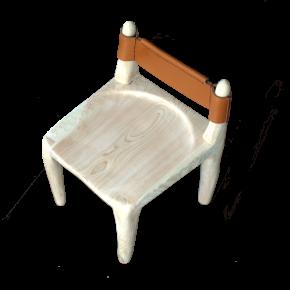 ヒノキの無垢材で作った子供用の椅子