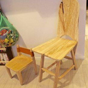 大人用の木椅子を作る