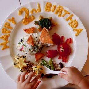 2歳の誕生日プレートは海の生き物シリーズ